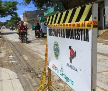 Arreglo de vías en las localidades de Cartagena