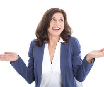Mujer con menopausia.