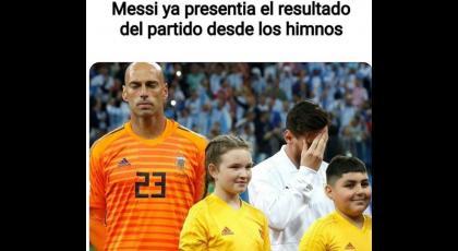 Memes de la derrota de Argentina.