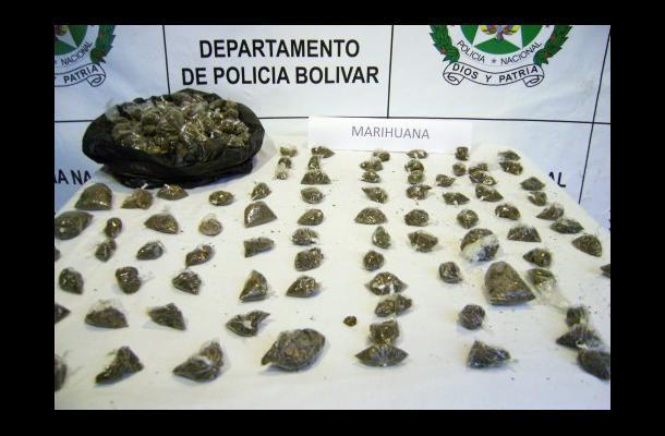 Dosis de marihuana incautadas
