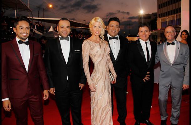 El equipo de La Red en los Premios TV y Novelas.