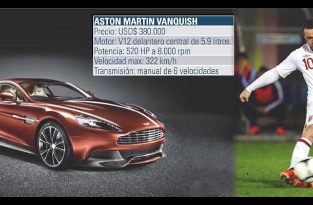 Wayne Rooney, en su garaje cuenta con el Aston Martin Vanquish.