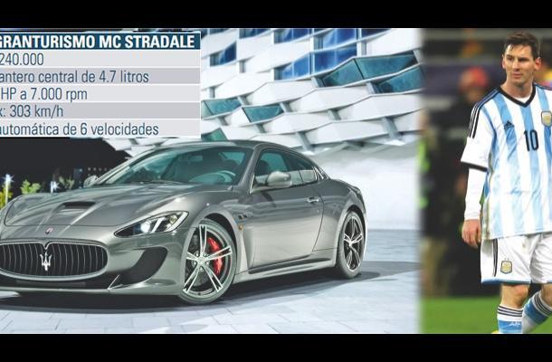 Lionel Messi posee un Maserati GranTurismo MC Stradale.