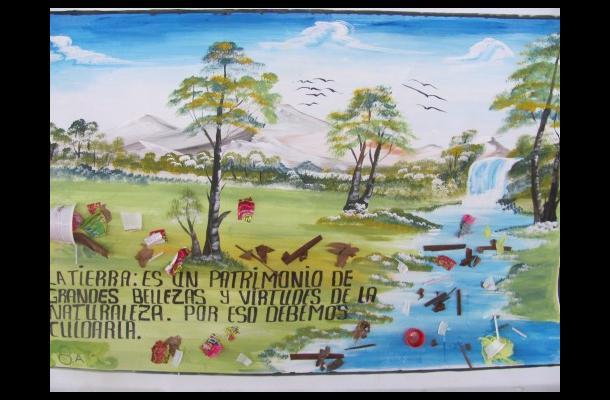 Afiche alusivo al medio ambiente.