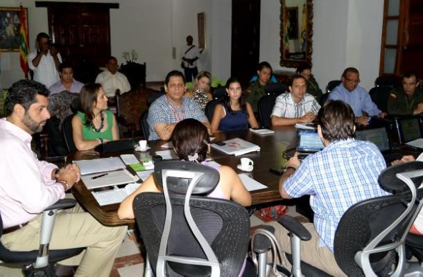 Consejo de Seguridad convocado por el Alcalde Dionisio Vélez Trujillo.