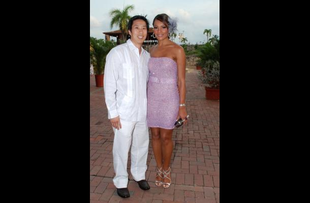 Eugene Jang y Ilia Calderón