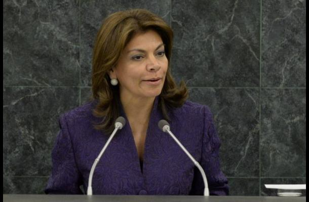 Laura Chinchilla, presidenta de Costa Rica.