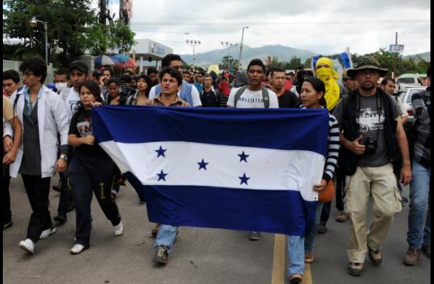 Movilización en Honduras por el resultado de las elecciones presidenciales.