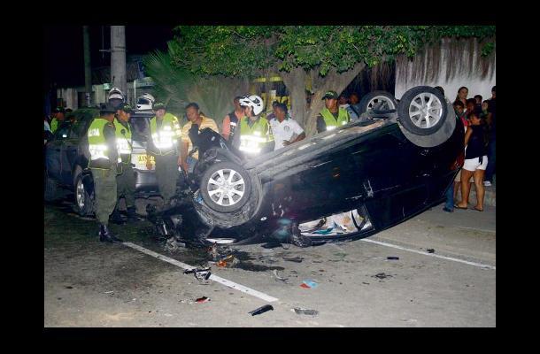 accidente en Las Peñitas
