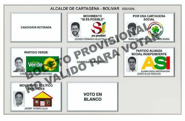Voto en blanco en Cartagena