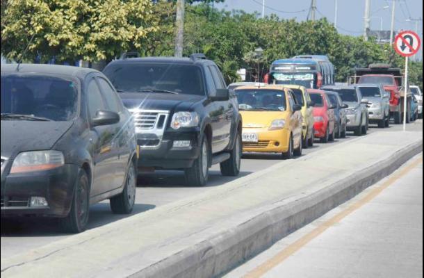 Trancones en vías de Cartagena