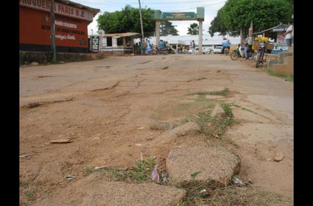 Este es el lamentable estado que presenta la calle 15 actualmente.