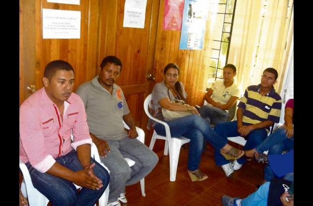 El comité encargado de la jornada de vacunación