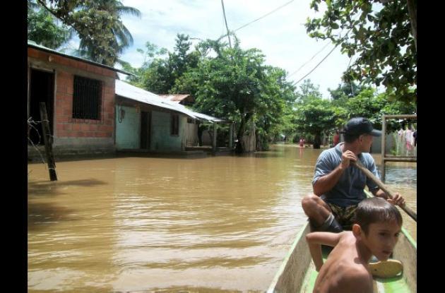 Varias poblaciones del San Jorge cordobés se encuentran inundadas
