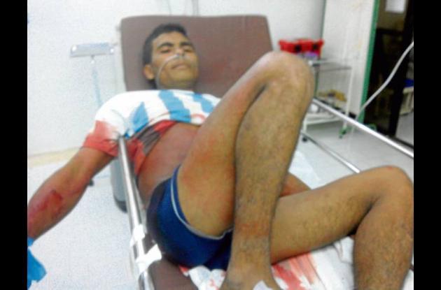 Juan Beltrán Peñata, herido a bala