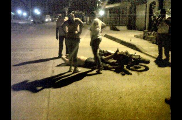 A las dos de la madrugada de ayer se registró el accidente