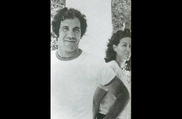 Álvaro Cepeda Samudio y su esposa Tita Manotas