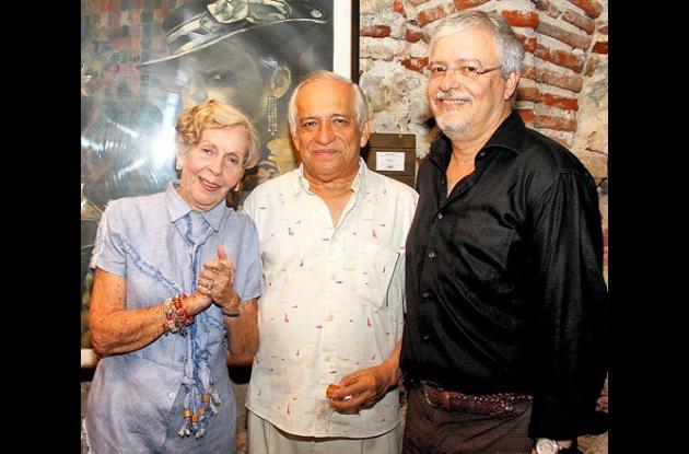 Yolanda Pupo de Mogollón, Jaime García y Alberto Abello.