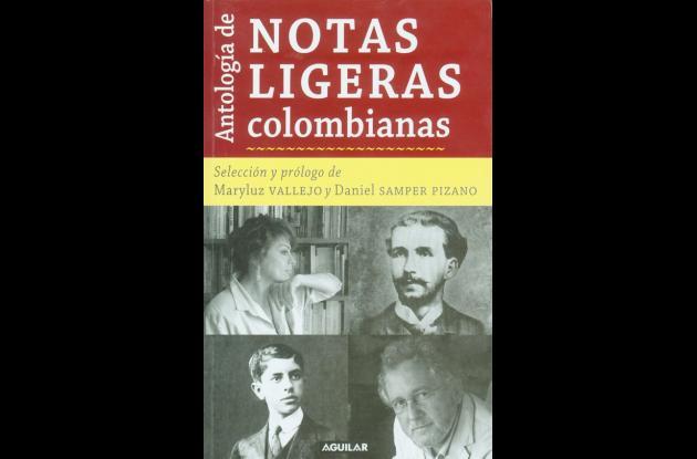 """Carátula del libro """"Antología de notas ligeras colombianas"""""""