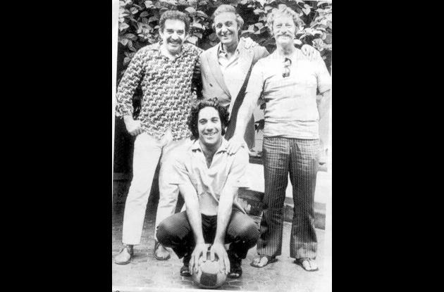Álvaro Cepeda con García Márquez y Pepe Dominguín, Alejandro Obregón.