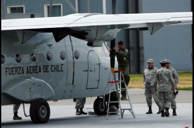 Cuerpo de rescate de los cuerpos del accidente aéreo en Chile