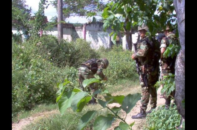 encontraron y desactivaron minas antipersona