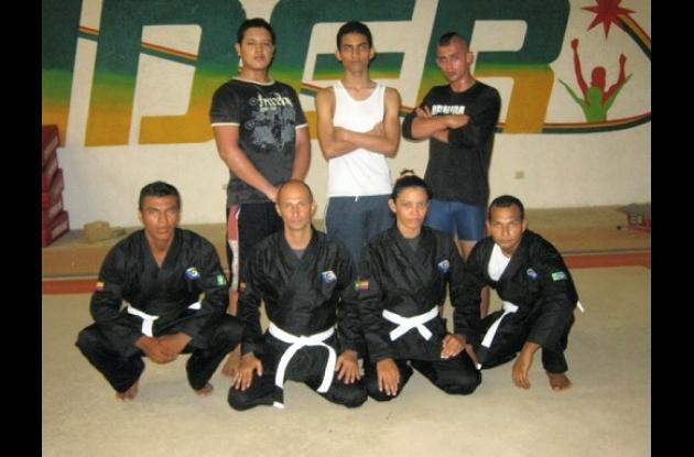 El equipo de Bolívar, que participó en el torneo Jiujitsu en Bogotá.
