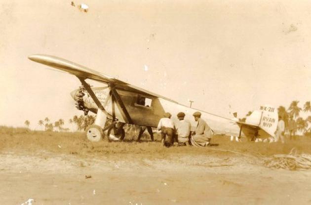 Cuando la avioneta de Charles Limberth aterrizó en Bocagrande, en 1928.