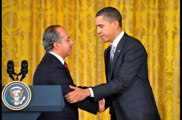Barack Obama y Felipe Calderón