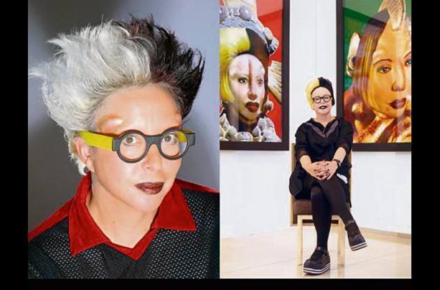 La artista Orlan (Mireille Suzanne Francette Porte)