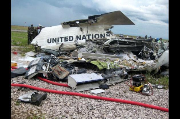 Avión accidentado en Congo con funcionarios de la ONU