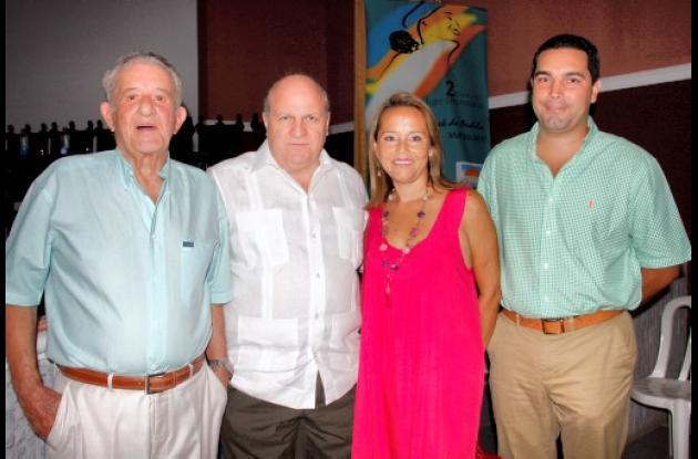 Enrique Zurek, Antonio Ardila, María Elena Rangel y Hans Londoño.