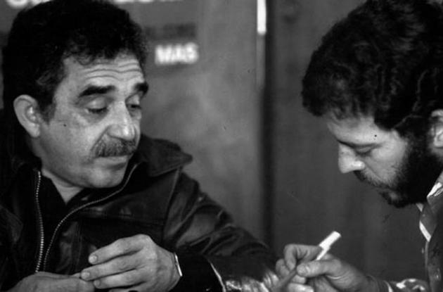 Gabo con Enrique Santos Calderón.