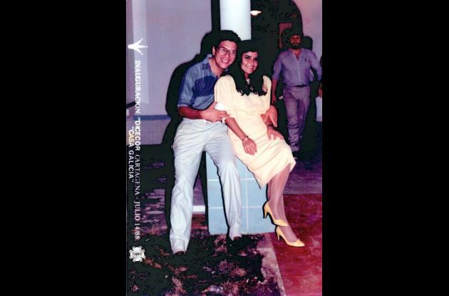 Germán Fonseca y Patricia Díaz, en 1988.