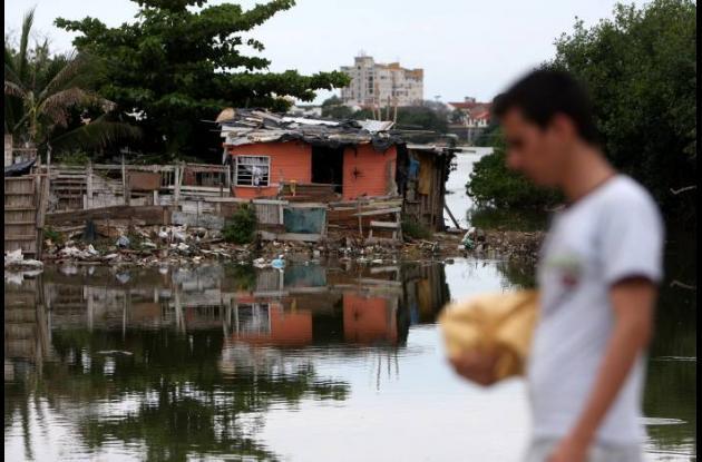 En  Torices, en las aguas detenidas del Caño Juan Angola.