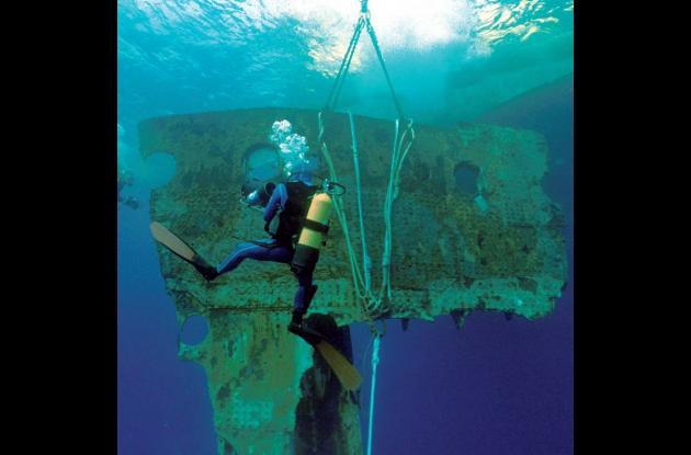 sección del casco del Titanic que pesa 17 toneladas.