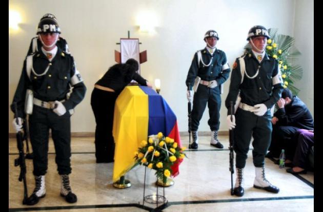Velorio del soldado William Domínguez, asesinado en Bogotá