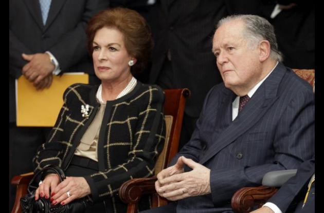Luis Carlos Sarmiento Angulo con su esposa Fany Gutiérrez de Sarmiento.