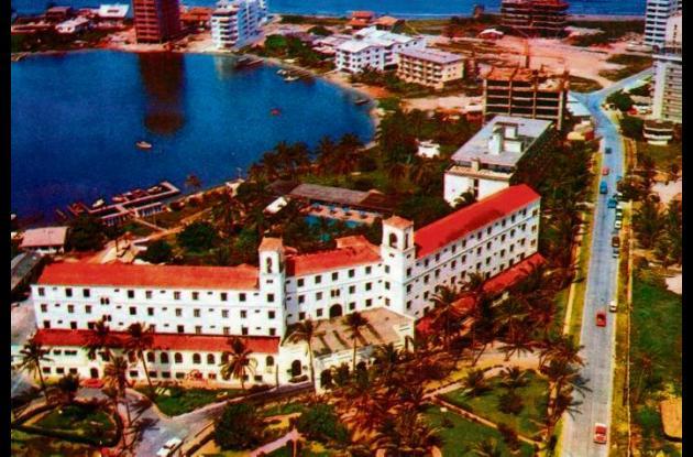 Panorámica de El Laguito, con la imagen de Hotel Caribe, en 1973.