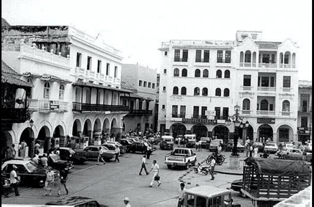 La estación de la Plaza de los Coches, en los años 80.