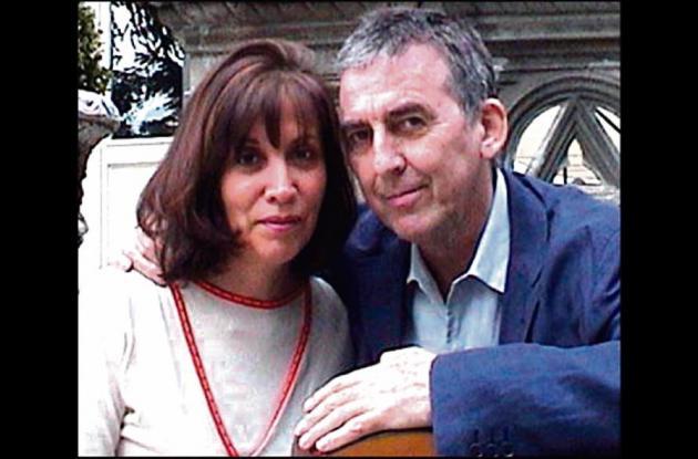 George Harrison y su esposa Olivia