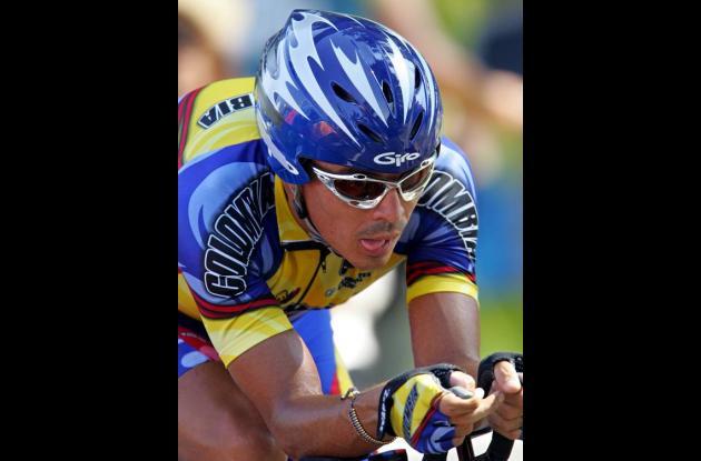 El ciclista santandereano Víctor Hugo Peña Grisales