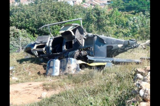 Helicóptero accidentado