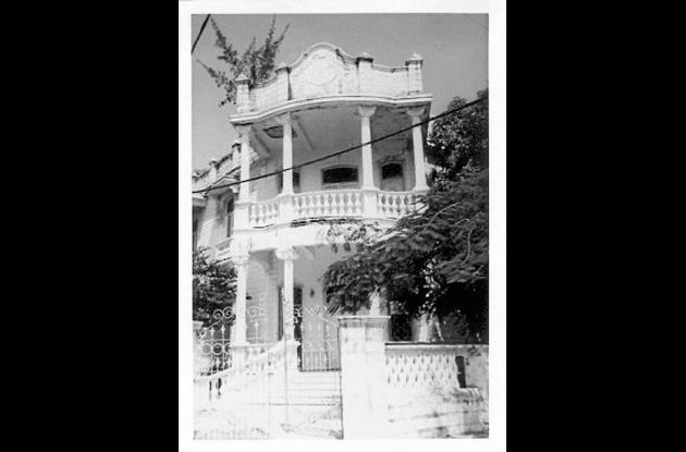 La antigua y  demolida Casa Miriam en Manga.