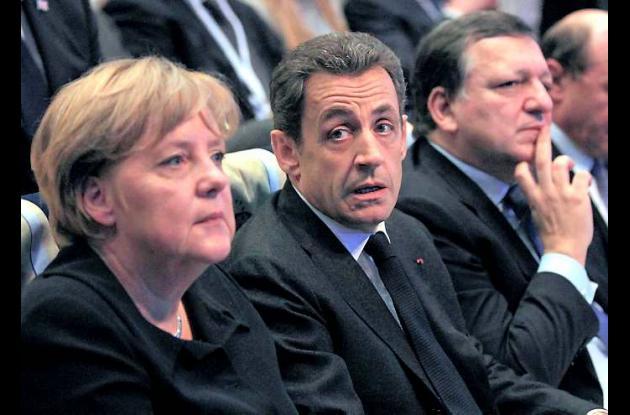 Merkel, Sarkozy y Durao