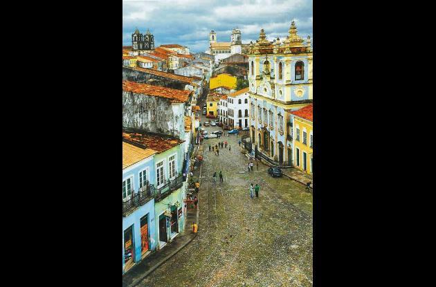 Calle de Pelourinho vista de la Casa de Jorge Amado.