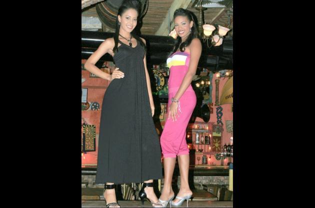 La reina de Cartagena, Giselle Marín y la reina de la Independencia Sindy Miranda, lucieron atuendos del diseñador Guillo Dulce Pecado.