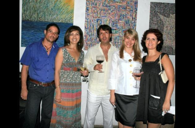 Saúl Pizarro, Ana Cristina Peña, Oswaldo Bernal, Denise Waelti y Patricia Tenjo.
