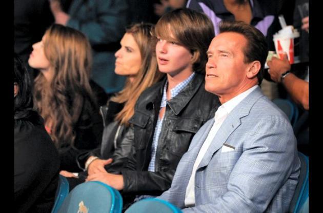Arnold Schwarzenegger (derecha) con su exesposa, Maria Shriver