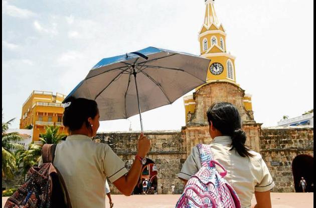 Cartagena soporta altas temperaturas.